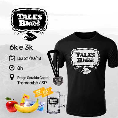 1ª CORRIDA TALES FROM THE BLUES RUN 2018 -  6k e 3k - Tremembé-SP