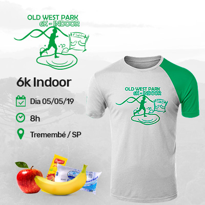 1º CORRIDA OLD WEST PARK - 6K - Indoor - Tremembé/ SP