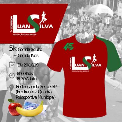 3ª Corrida Luan Silva / Redenção da Serra - SP - 100m, 200m, 400m e 1.5km (kids),  corrida 5km (Adulto)