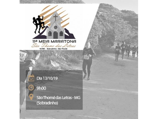 11ª Meia Maratona de São Thomé das Letras - MG