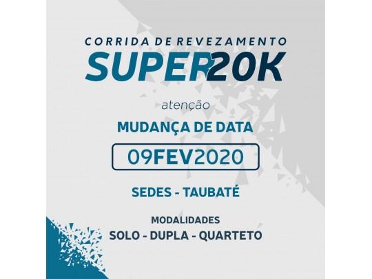 CORRIDA DE REVEZAMENTO SUPER 20K 2019 – Solo, Dupla ou Quarteto  –  TAUBATÉ - SP