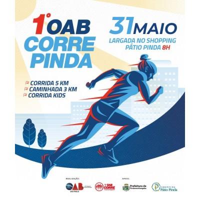 1ª OAB CORRE - Pindamonhangaba / SP - 200m 400m 2k (kids), caminhada 3k e corrida 5k