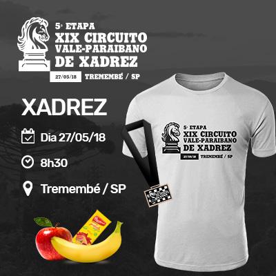 5ª Etapa do XIX Circuito Vale-paraibano de Xadrez - Tremembé / SP