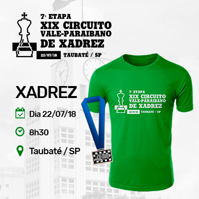 7ª Etapa do XIX Circuito Vale-Paraibano de Xadrez - Taubaté / SP
