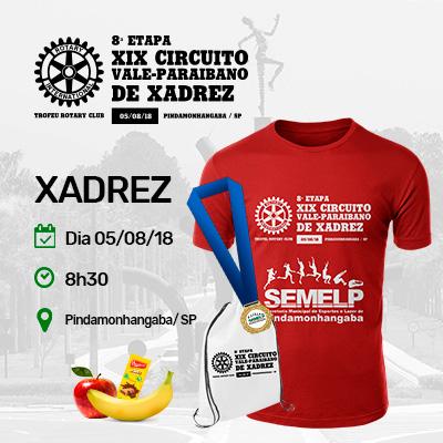8ª Etapa do XIX Circuito Vale-Paraibano de Xadrez - Pindamonhangaba / SP